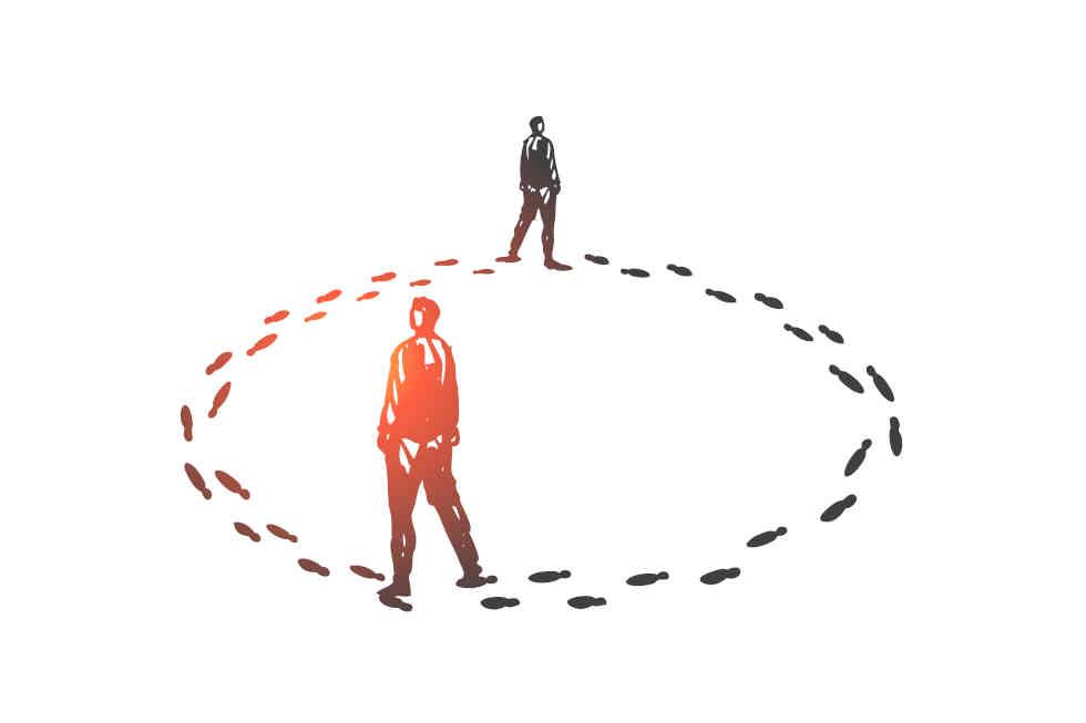 Teufelskreis bei Konflikten